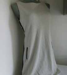 Stradivarius srebrnkasta haljina M