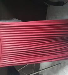 Stradivarius kozna duga suknja