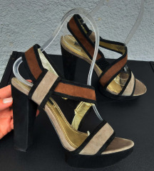 NINE WEST kozne sandale sa debljom stiklom