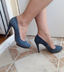 MAX Italy plave kozne cipele salonke