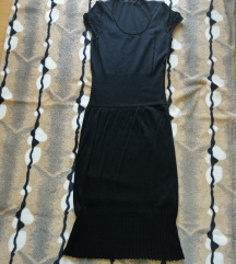 Nova crna uska haljina kratkih rukava