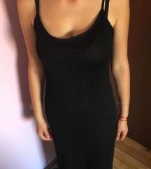 Duga crna haljina cipkaa