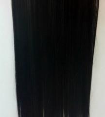 Crna kosa na klipse