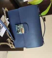 Kozna teget torbica NOVA kao Furla