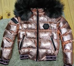 Philipp plein jakna sa prirodnim krznom