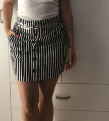 Prugasta suknja + kais