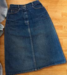 Teksas suknja visoki struk