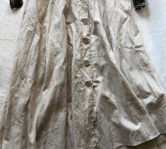ZARA NOVA lanena dugacka suknja sa kaisem XL - L