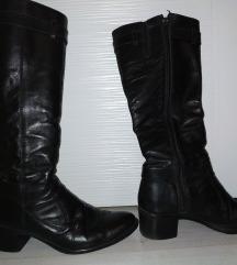 Crne Kožne čizme 38