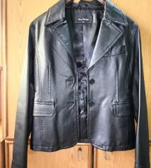 Crna kozna jakna M