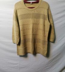 Koncana bluza svetlo zeleno/senf vel.42/44