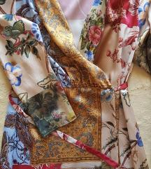 Nova Zara pacvork cvetna midi haljina