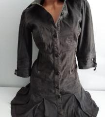 ZARA haljina strukirana extra M