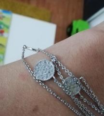 Troslojna ogrlica od hiruskog čelika NOVO