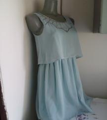 H&M svetlo plava haljina sa sljokicama XS