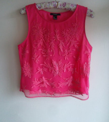 Forever21 oversizes crop top sa vezom, S/M