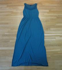 665. Esmara dugacka maxi letnja haljina, tirkiz