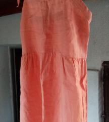 Lanena maxi haljina