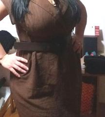 Lanena haljina plus size