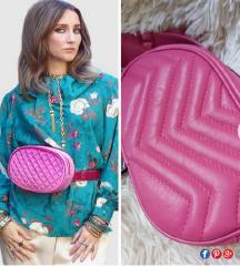 💗 Italijanska pink belt torbica 100% KOZA 💗 NOVO
