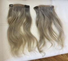 Prirodna kosa na klipse plava