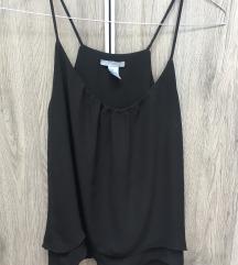 H&m crna majica na bretele, 34/36