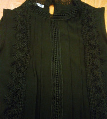 Crna bluza M/L ruska kragna