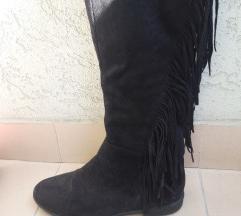 Nove crne koton cizme sa resama