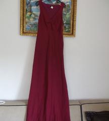 J CREW lanena duga letnja ciklama haljina M ili L