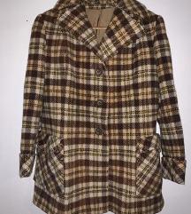 Vintage karirani deblji kaput-VIKEND AKCIJA
