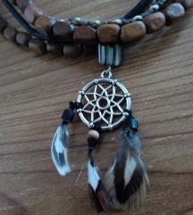 Coker ogrlica dream catcher - Indijanska - unisex