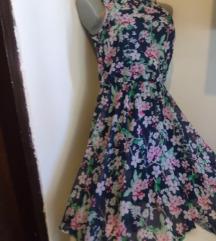 H&M cvetna haljina na repove XS /S