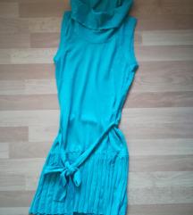 Zelena pletena haljina