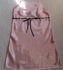 NOVA Isadora svetlo roze satenska spavacica