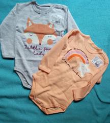 2 nova bodija za bebu devojcicu 74