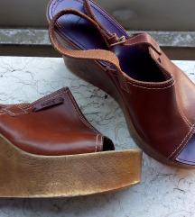 Mexx kozne sandale s drvenom platformom