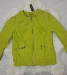 Zelena kozna jakna nova ali sa malim felerom