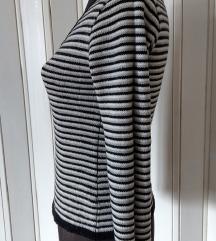 Džemper prugasto CRNO-BELI uski