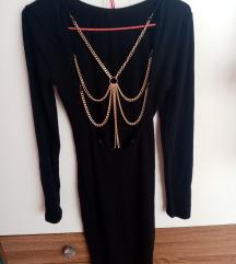 Crna pletena haljina