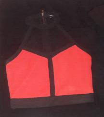 Tally weijl crveno crni crop top