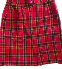Crvena Karirana Suknja [VINTAGE]