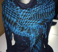 Plavo-crni veliki šal/marama