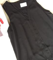 ZARA crna bluza sa cipkom