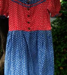 Vintage pamucna haljina vel. S