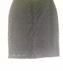 Crna suknja od cipke