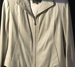 Bela kožna jakna vel. XL
