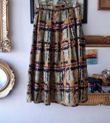 VINTAGE suknja krojena u A