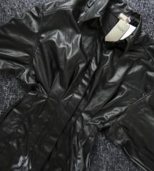 HM faux leather Vegan haljina, vel. XS