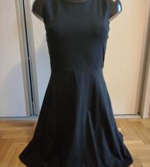 Crna haljina sa cipkom kao nova