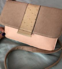 Krem-roze torbica